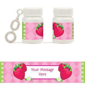 Strawberry Friends Personalized Bubbles (18 Pack)