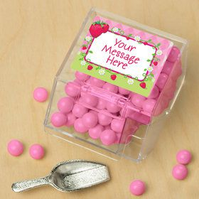 Strawberry Friends Personalized Candy Bin with Candy Scoop (10 Count)