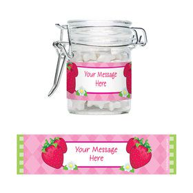Strawberry Friends Personalized Glass Apothecary Jars (12 Count)