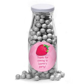 Strawberry Friends Personalized Glass Milk Bottles (12 Count)
