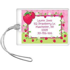 Strawberry Friends Personalized Luggage Tag (each)