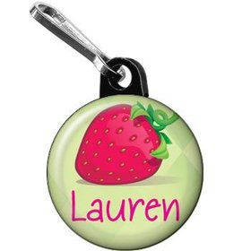 Strawberry Friends Personalized Mini Zipper Pull (each)