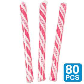 "Strawberry Hot Pink 5"" Candy Sticks (80 Pack)"