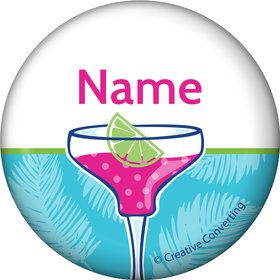 Summer Drinks Personalized Mini Button (Each)
