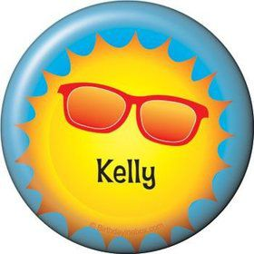Summer Fun Personalized Button (each)