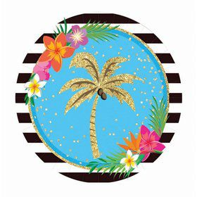 "Summer Paradise Sparkle 9"" Lunch Plate (8)"