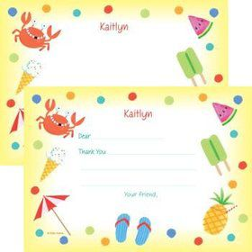 Summer Treats Personalized Thank You Note (each)