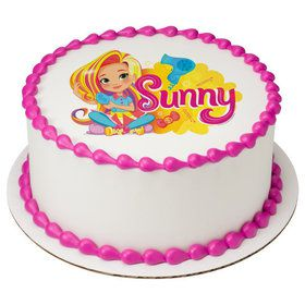 "Sunny Day 7.5"" Round Edible Cake Topper (Each)"