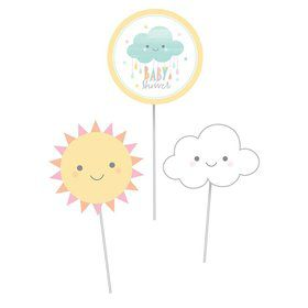 Sunshine Baby Showers Centerpiece Cutout Sticks (3)