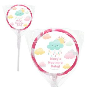 "Sunshine Showers Personalized 2"" Lollipops (20 Pack)"