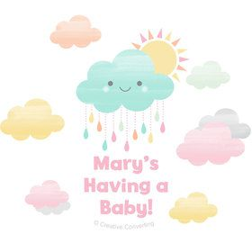 Sunshine Showers Personalized Mini Stickers (Sheet of 24)