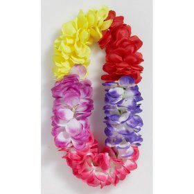 Super Deluxe Multi Color Flower Lei