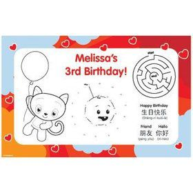 Super Happy Personalized Activity Mats (8-pack)