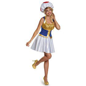 Super Mario Bros: Adult Womens Toad Costume