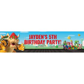 Super Mario Bros. Bowser Personalized Banner (Each)