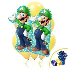 Super Mario Bros. Jumbo Balloon Bouquet - Luigi
