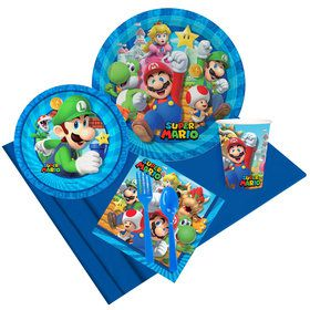 Super Mario Bros Luigi Party Pack for 8