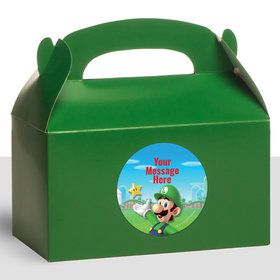 Super Mario Bros. Luigi Personalized Treat Favor Boxes (12 Count)
