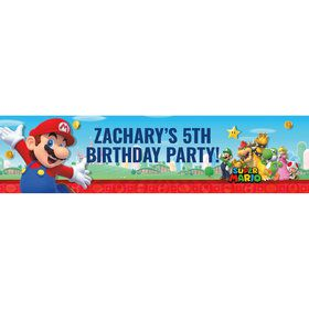 Super Mario Bros. Mario Personalized Banner (Each)