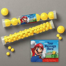 Super Mario Bros. Mario Personalized Candy Tubes (12 Count)