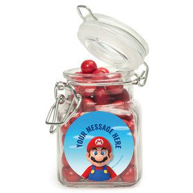 Super Mario Bros. Mario Personalized Glass Apothecary Jars (12 Count)