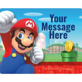 Super Mario Bros. Mario Personalized Rectangular Stickers (Sheet of 15)