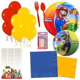 Super Mario Bros. Party Essentials Kit (Serves 16)