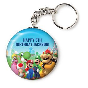"Super Mario Bros. Personalized 2.25"" Key Chain (Each)"