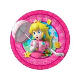 Super Mario Bros. Princess Peach Dessert Plates (8)