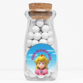 "Super Mario Bros. Princess Peach Personalized 4"" Glass Milk Jars (12 Count)"