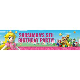 Super Mario Bros. Princess Peach Personalized Banner (Each)