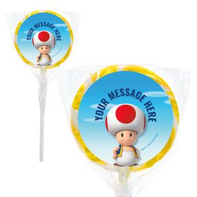 "Super Mario Bros. Toad Personalized 2"" Lollipops (20 Pack)"