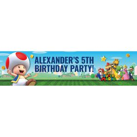 Super Mario Bros. Toad Personalized Banner (Each)