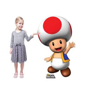 Super Mario Bros. Toad Standup - 3' Tall