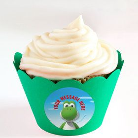 Super Mario Bros. Yoshi Personalized Cupcake Wrappers (Set of 24)