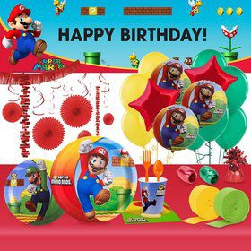 Super Mario Brothers Ultimate Party Kit (8 Guests)