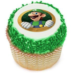 Super Mario Luigi Edible Cupcake Topper (12 Images)