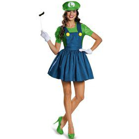 Super Mario: Luigi w/Skirt Costume For Women