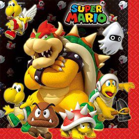 Super Mario Luncheon Napkins (16 Pack)