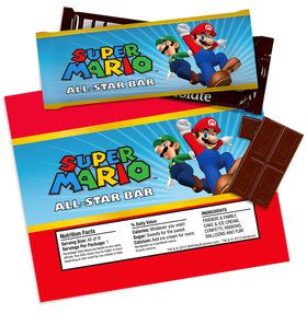 Super Mario Party Large Candy Bar Wrappers