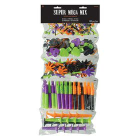 Super Mega Mix Halloween Favor Pack (100ct) - Knocker/Whistle/Clapper/Flute/Horn