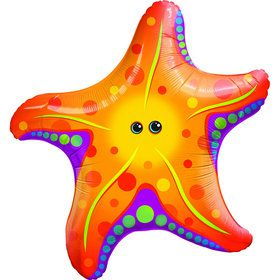 Super Sea Star Jumbo Foil Balloon