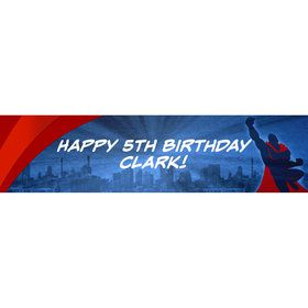Super Superhero Personalized Banner (Each)