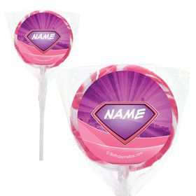"""Supergirl Personalized 2"""" Lollipops (20 Pack)"""