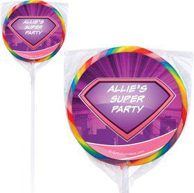 Supergirl Personalized Lollipops (12 Pack)