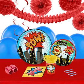 Superhero Comics 16 Guest Tableware Deco Kit