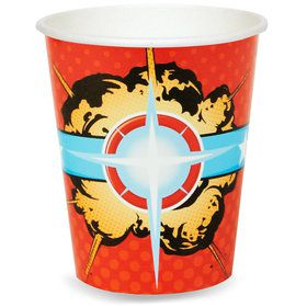 Superhero Comics 9 oz. Paper Cups