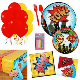 Superhero Comics Party Essentials Kit (Serves 16)