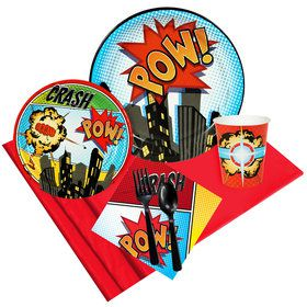 Superhero Comics Party Pack for 8
