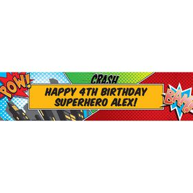 Superhero Comics Personalized Banner (Each)